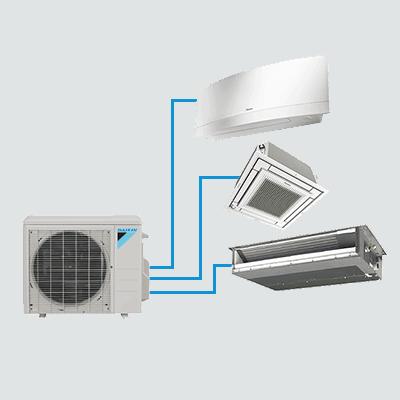 Daikin AURORA™ outdoor multi-zone ductless unit.