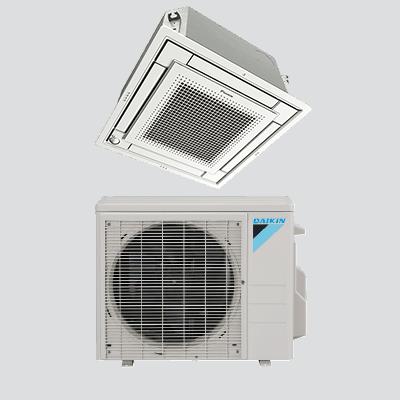 Daikin VISTA™ Ceiling Cassette single-zone heat pump.