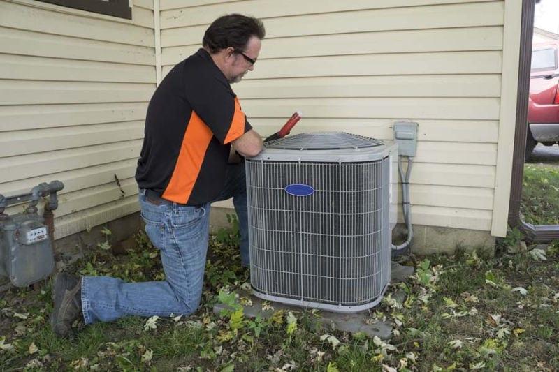 Man Working on AC