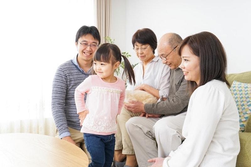 Three-generation family enjoying a warm home in Oregon City