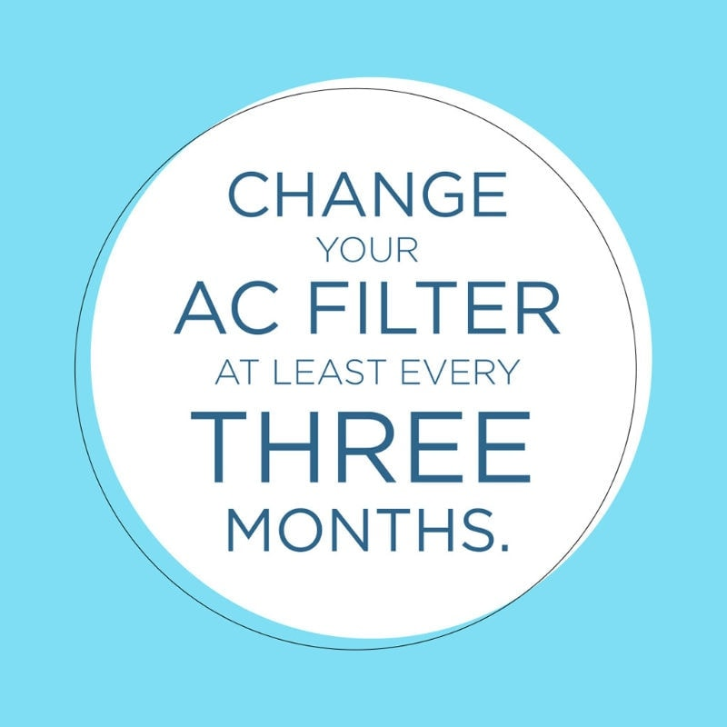 Change Your AC Filter Every Three Months
