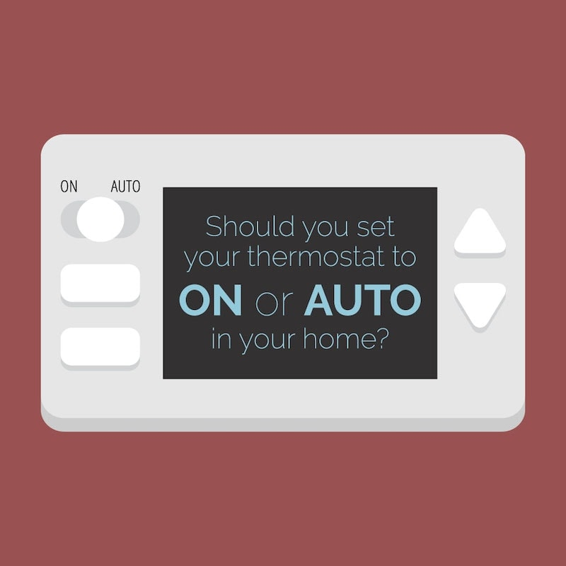 Video explaining if your thermostat should be set to on or auto.
